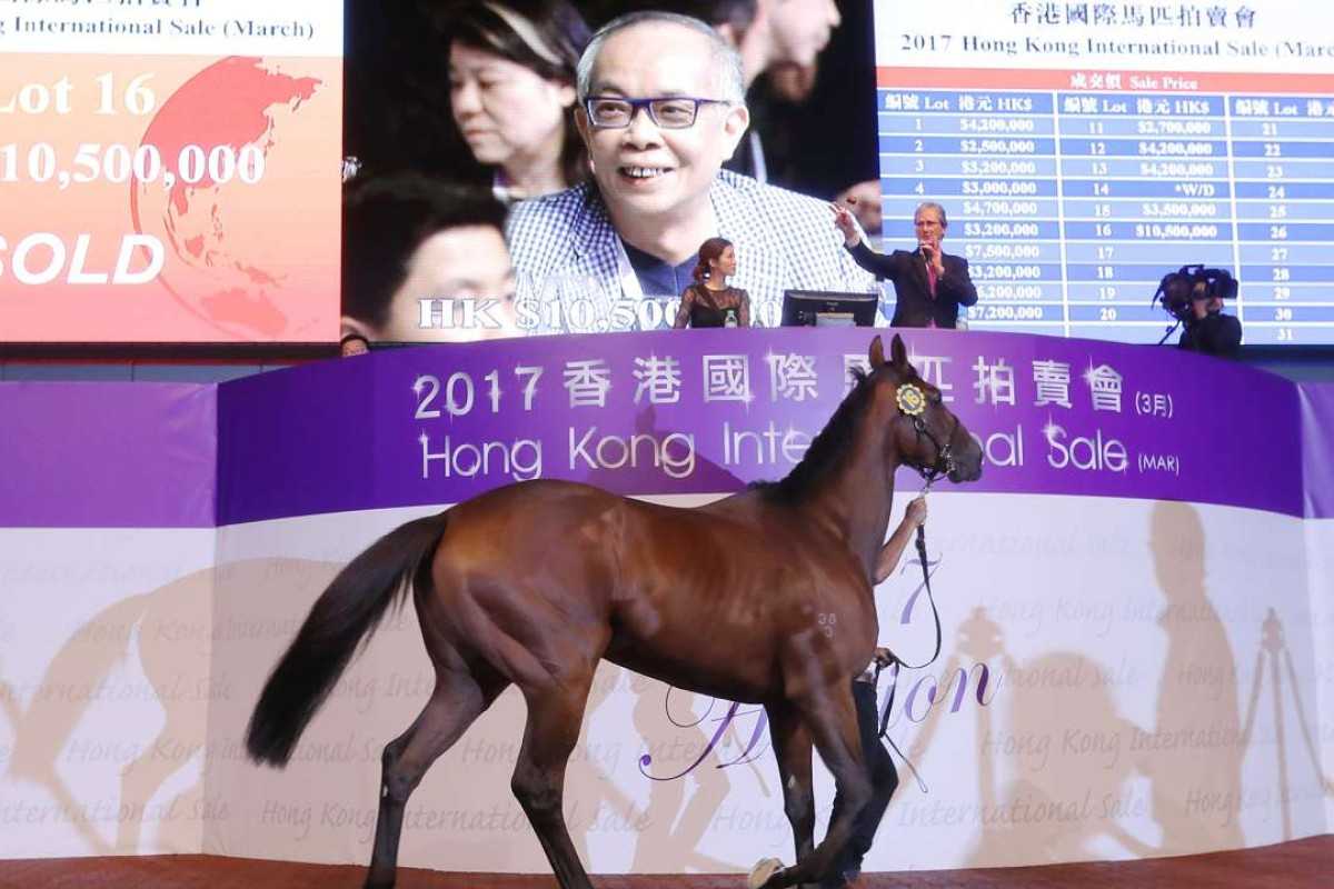 Lot 16 is sold for HK$10.5 million at the 2017 Hong Kong International Sale to businessman Peter Pak Lau-fai. Photos: Kenneth Chan