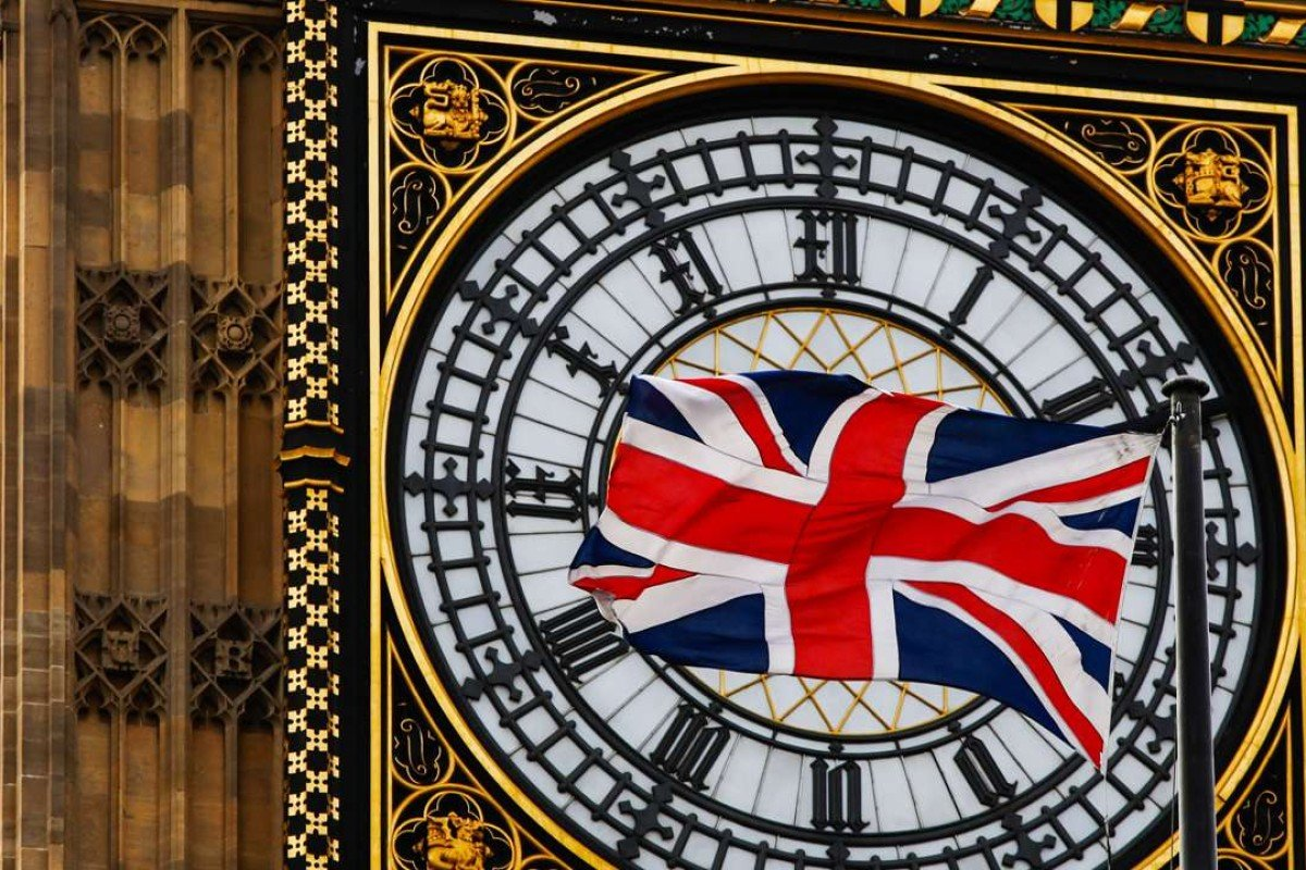 A British Union flag in front of Big Ben in London. Photo: Bloomberg