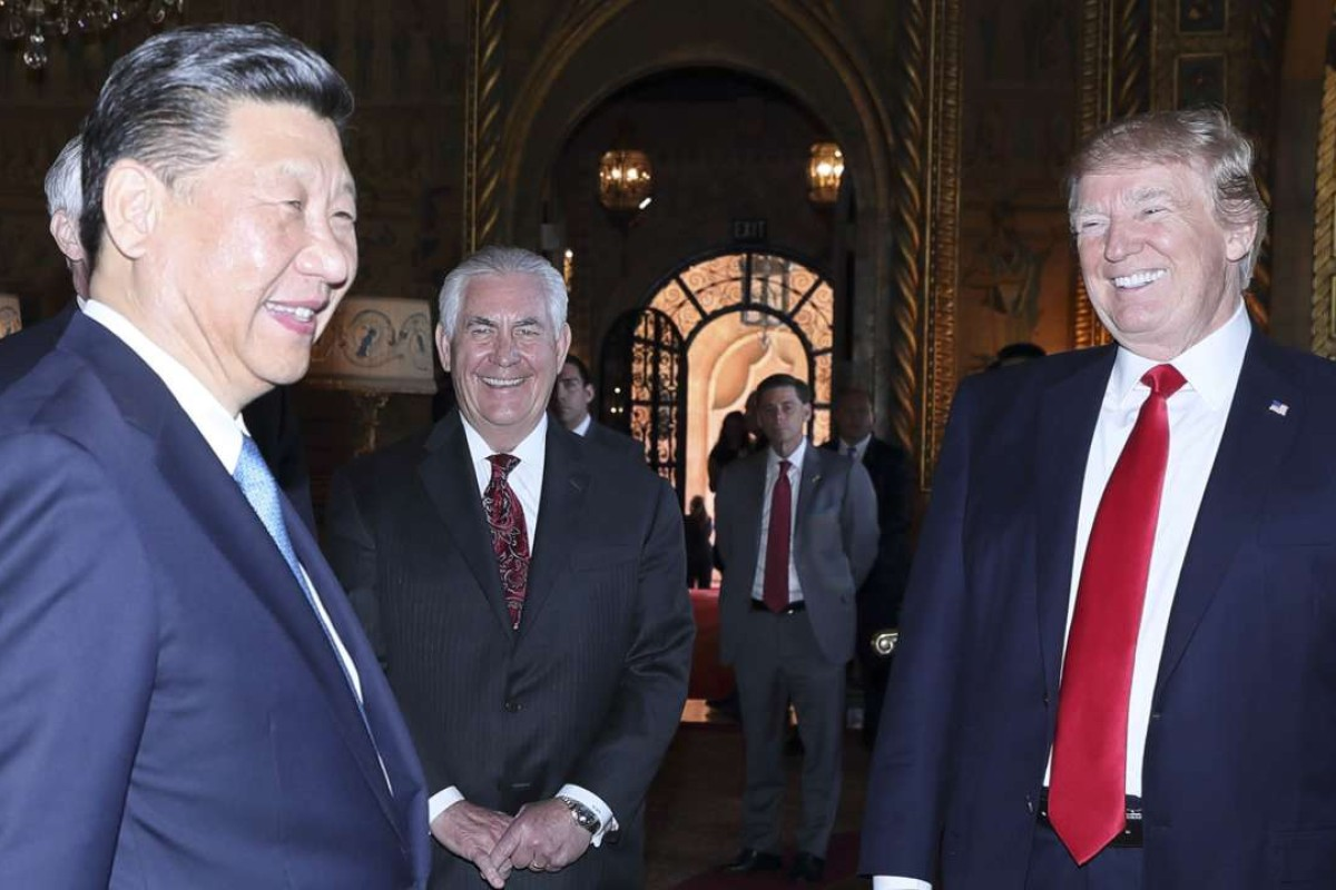 Chinese President Xi Jinping and his US counterpart President Donald Trump hold the second round of talks in the Mar-a-Lago resort in Florida. Photo: Xinhua