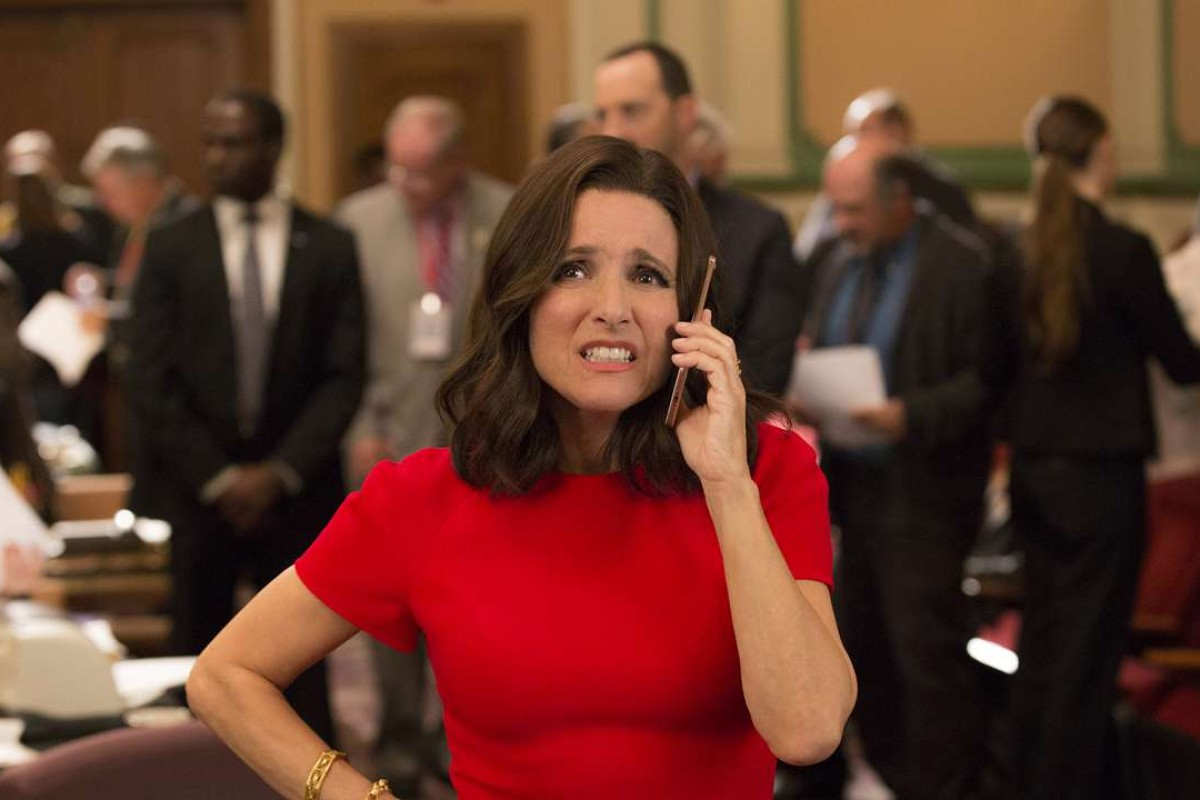 Julia Louis-Dreyfus as Selina Meyer in the new series of Veep, which sees her character help monitor the first free and democratic election in Georgia (the country, not the state). Photo: HBO