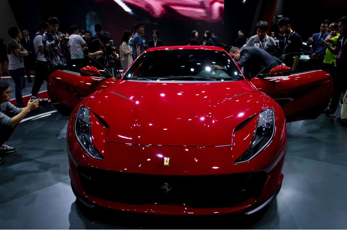 A Ferrari 488 GTB on show during the first day of the 17th Shanghai International Automobile Industry Exhibition. Photo: AFP