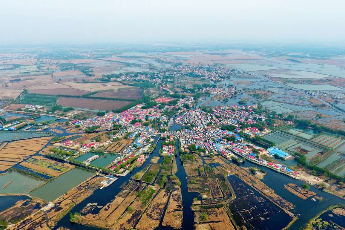 A village in Anxin County, north China's Hebei province. The Xiongan New Area will span Xiongxian, Roncheng and Anxin counties in Hebei. Photo: Xinhua