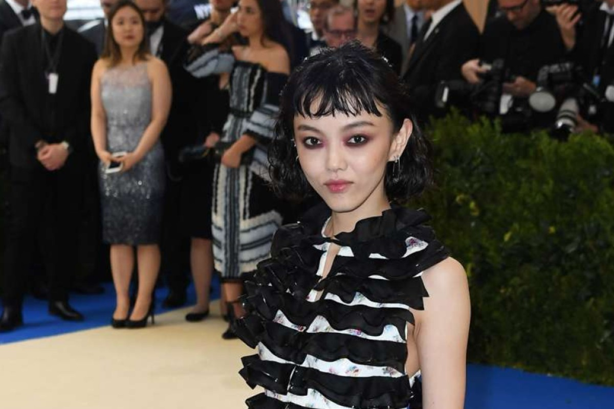 Rila Fukushima arrives for the Costume Institue Benefit May 1, 2017 at the Metropolitan Museum of Art in New York. / AFP PHOTO / ANGELA WEISS