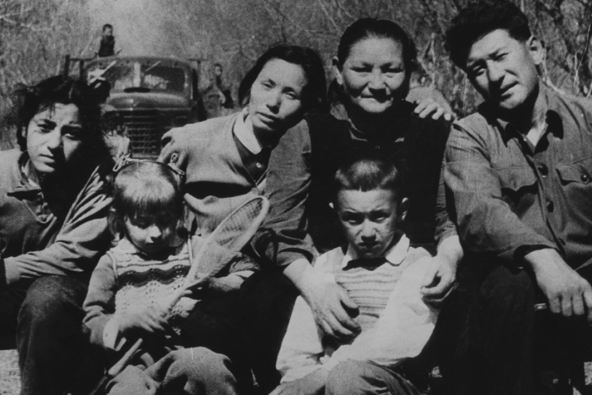 The Wong family in Sinkiang province [Xinjiang], in 1979. Mr Wong was a driver in China.