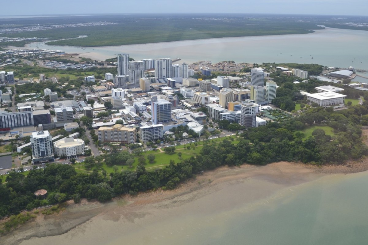 An aerial view of Darwin, the starting point for any tour of the Top End.
