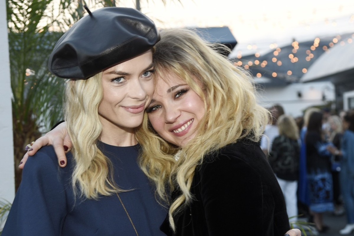 Actresses Jaime King, left, and Juno Temple pose together at the Dior Surf Club in Los Angeles. Photo: AP
