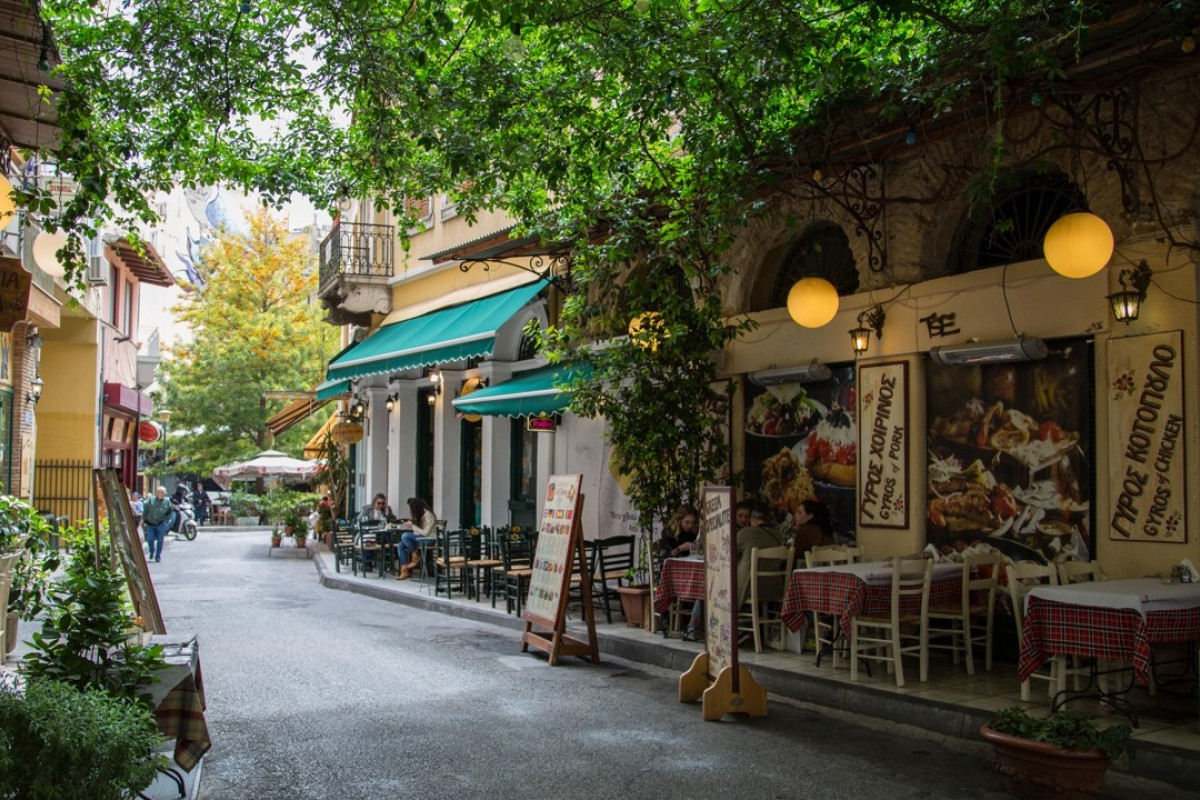 The historic neighbourhood of Plaka, in Athens, Greece. Picture: Alamy