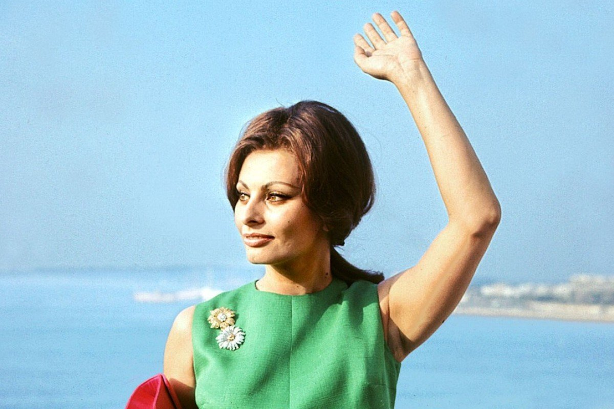 Sophia Loren during the Cannes Film Festival in 1964. Photo: AFP
