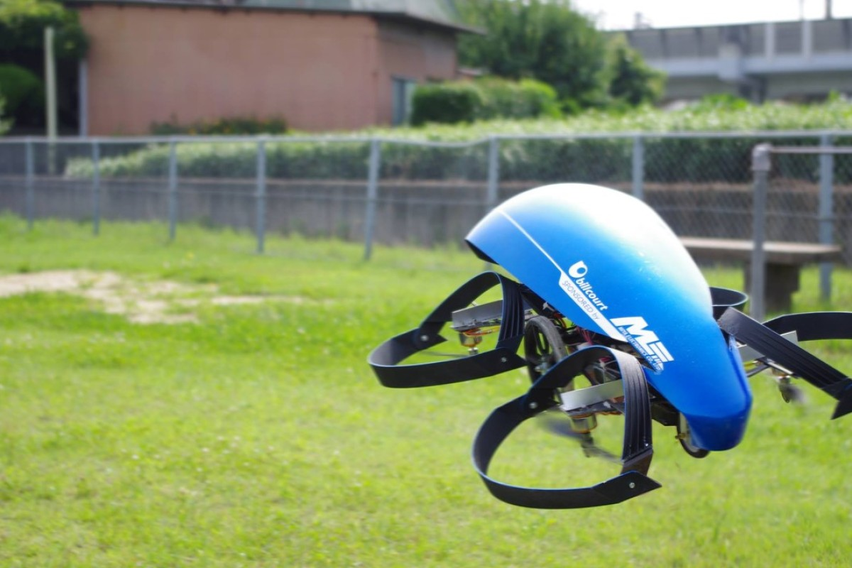 A mini prototype of the Cartivator flying car is tested in Aichi Prefecture, central Japan. Handout photo