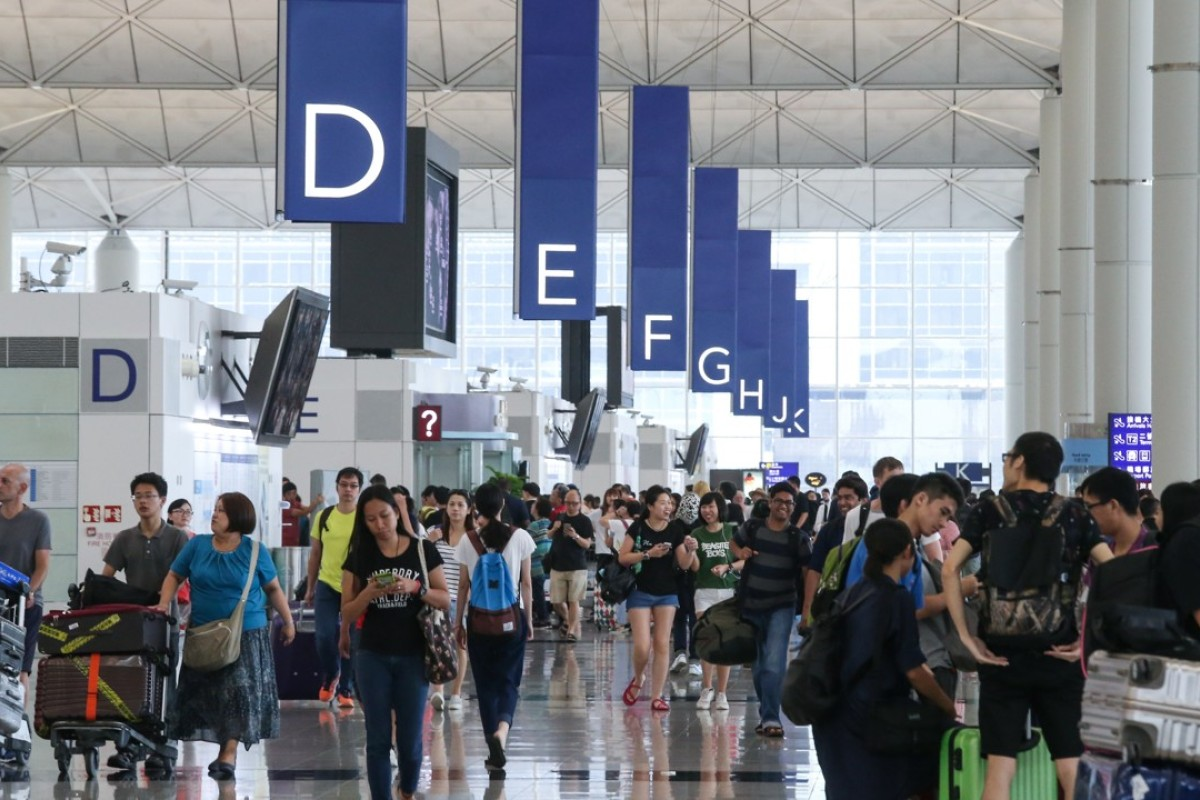 The departure hall at Hong Kong International Airport. Picture: SCMP