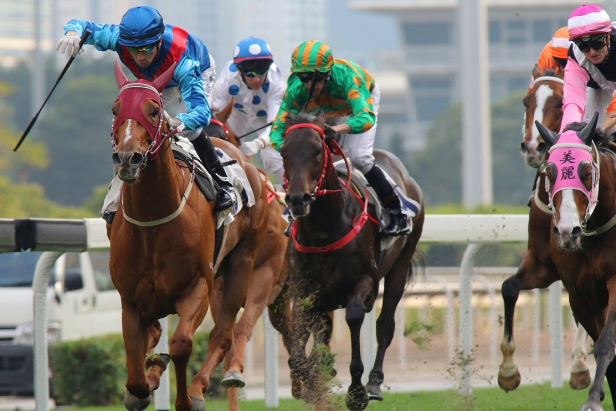 Rapper Dragon, ridden by Joao Moreira, wins the Chairman's Trophy. Photos: Kenneth Chan