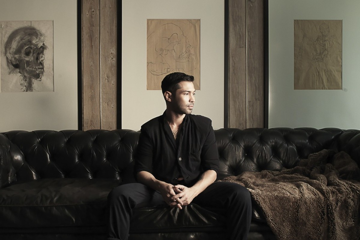 Omar Khan, whose rugs are available at Lane Crawford in Hong Kong.