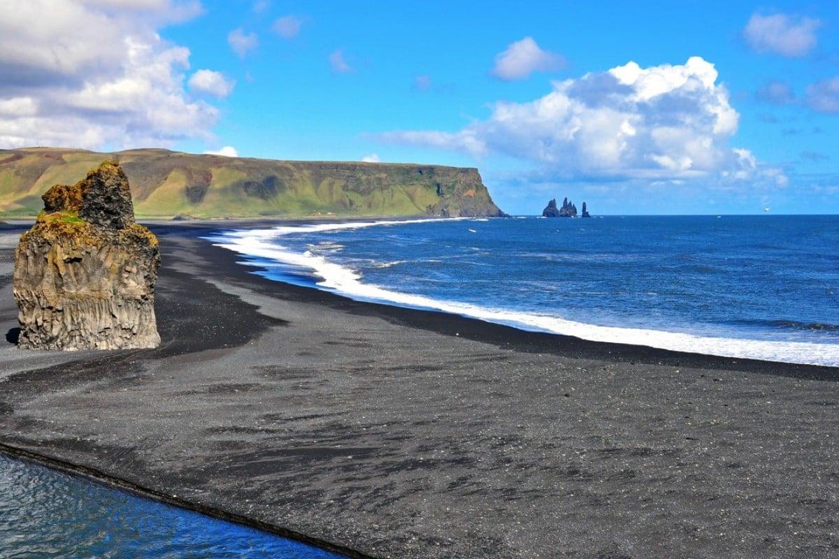 A black-sand beach at Vik. Picture: Alamy