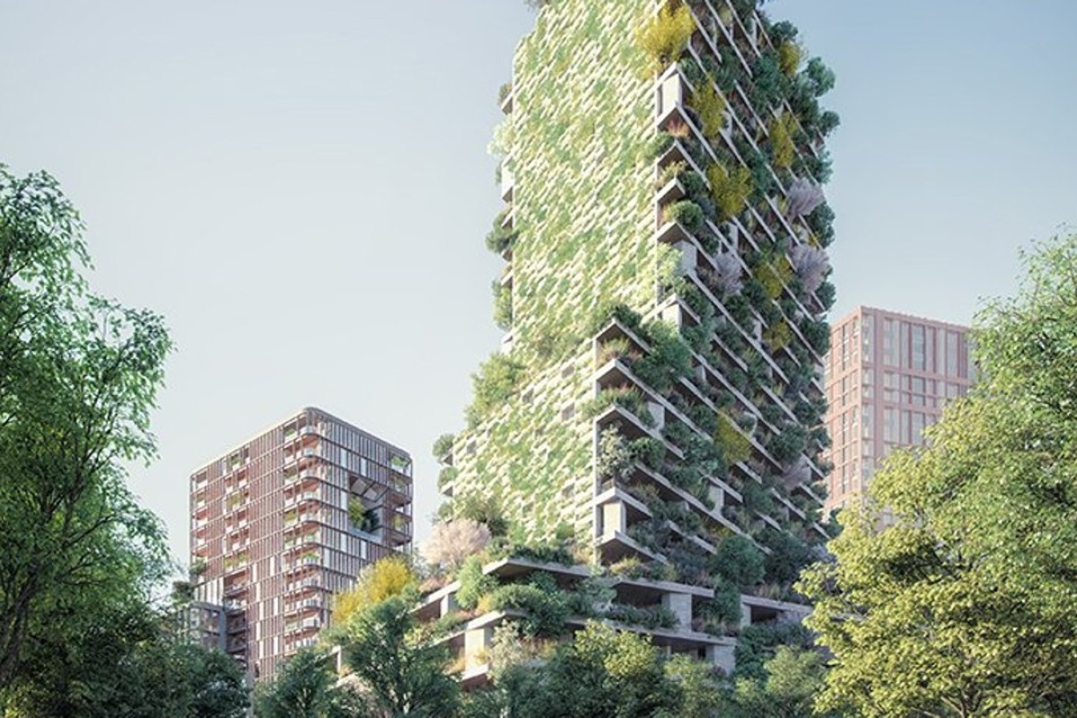 Stefano Boeri Architetti is building a smog-eating 'vertical forest tower' in Utrecht, which will feature luxury apartments and 300 species of plants