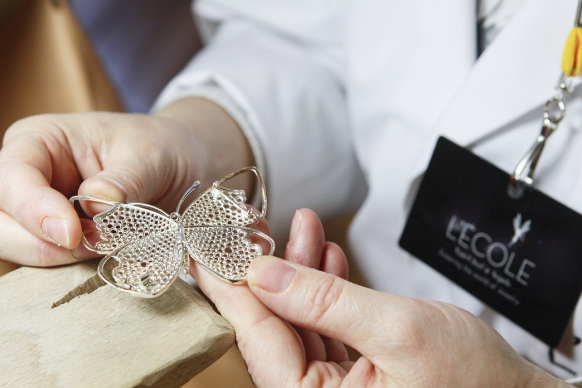 A demonstration of one of the workshops at Van Cleef & Arpels' L'ECOLE series.