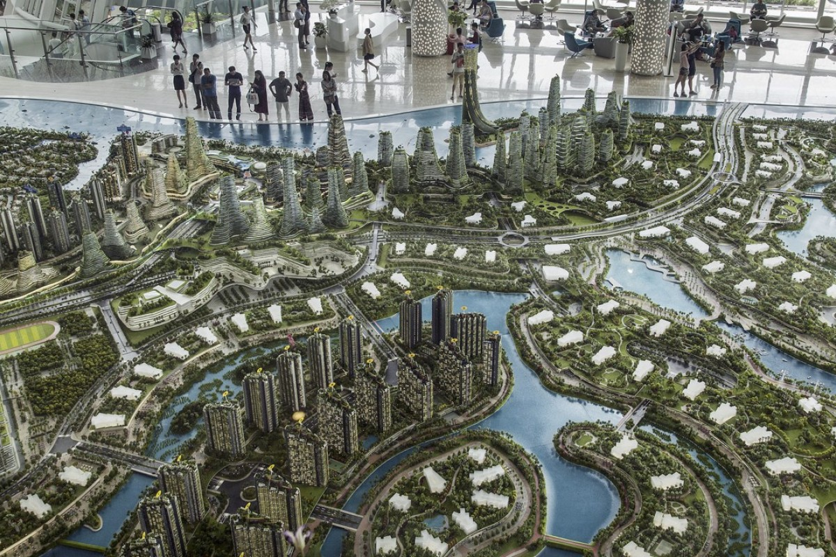 A model of the Forest City development. Photo: Bloomberg
