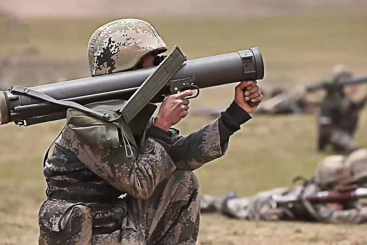 Chinese troops hold a military drill in Tibet amid a standoff with India on the border. Photo: Handout
