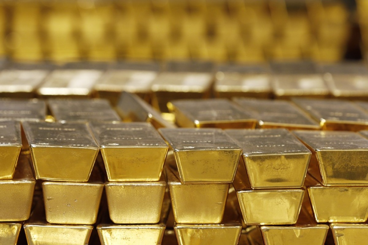 Gold bars stacked in a vault. Photo: AP