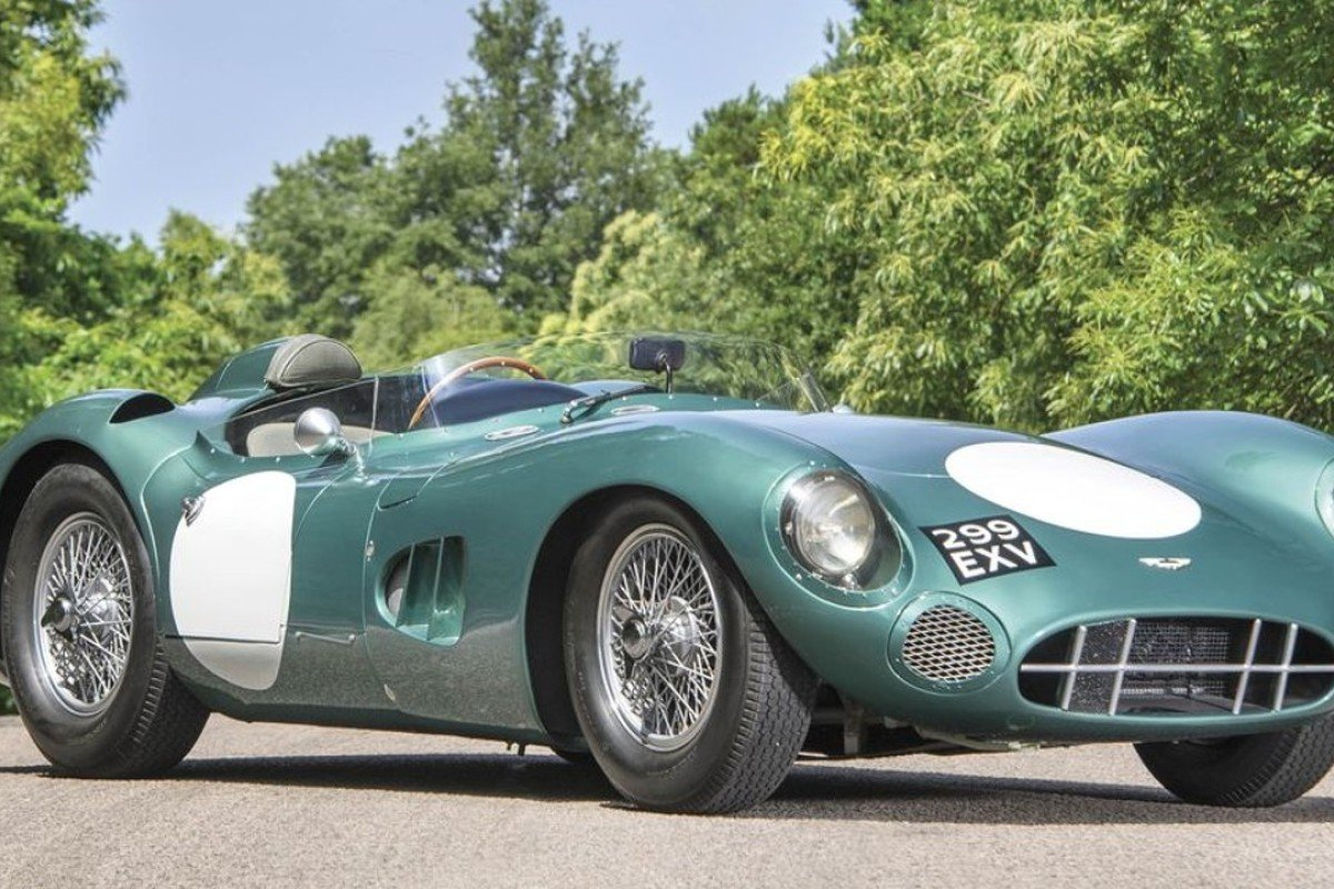 A 1956 Aston Martin DBR1, offered by RM Sotheby's, is expected to fetch US$20 million on auction.