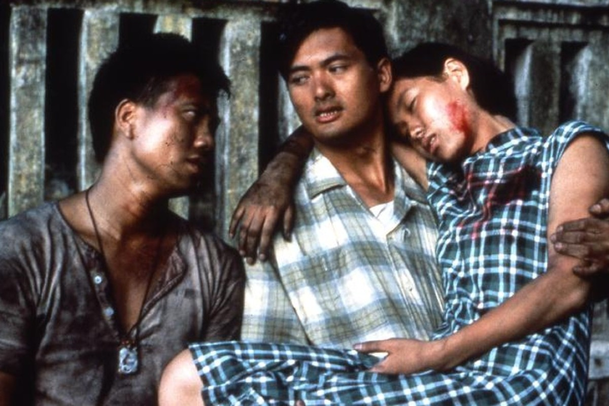 Chow Yun-fat (centre) makes an early impression in the wartime tale.
