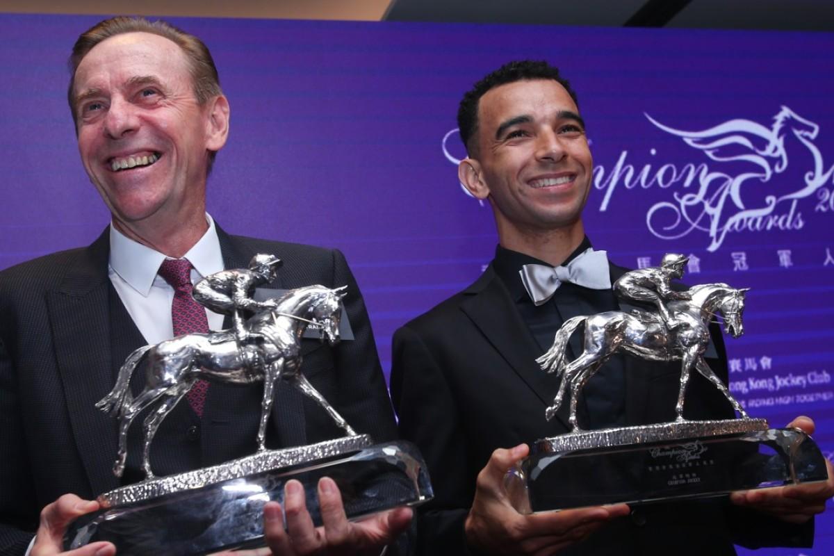 John Size (left) won the champion trainer award for the 2016-17 season. Photos: Kenneth Chan