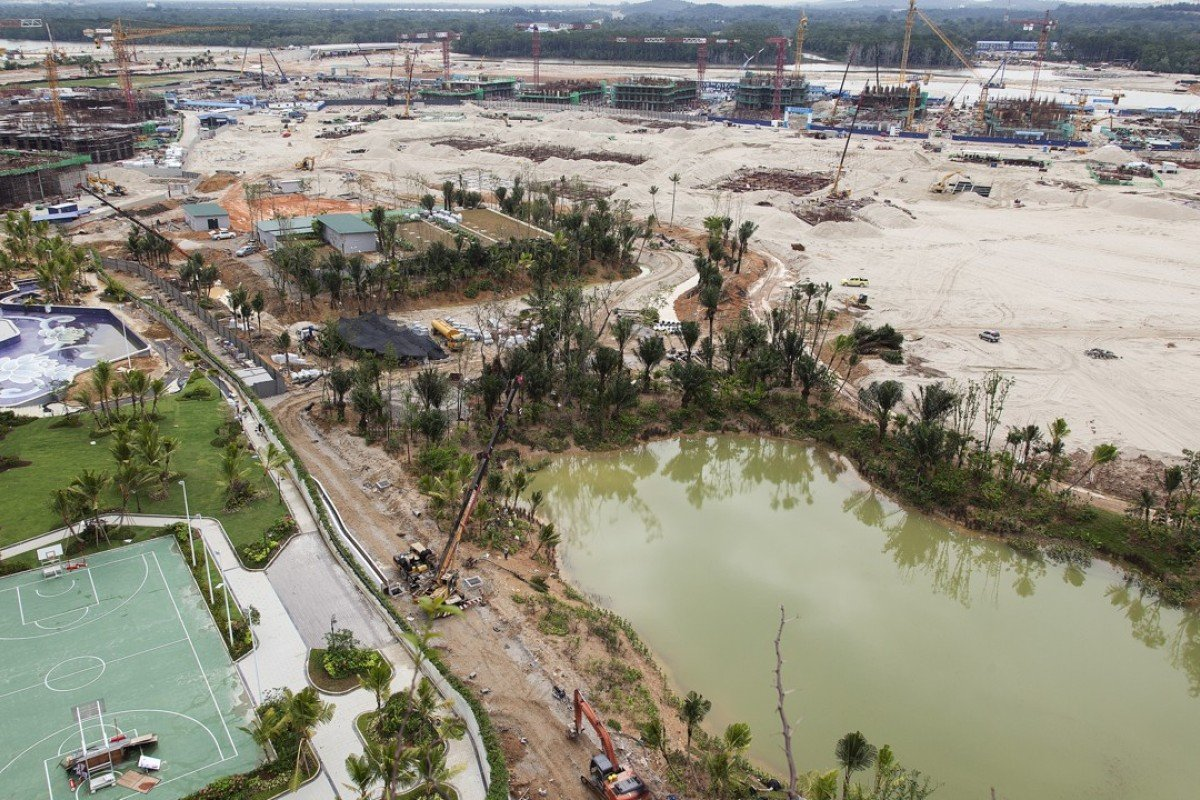 Forest City under construction in Johor, Malaysia. Picture: Edward Hursta
