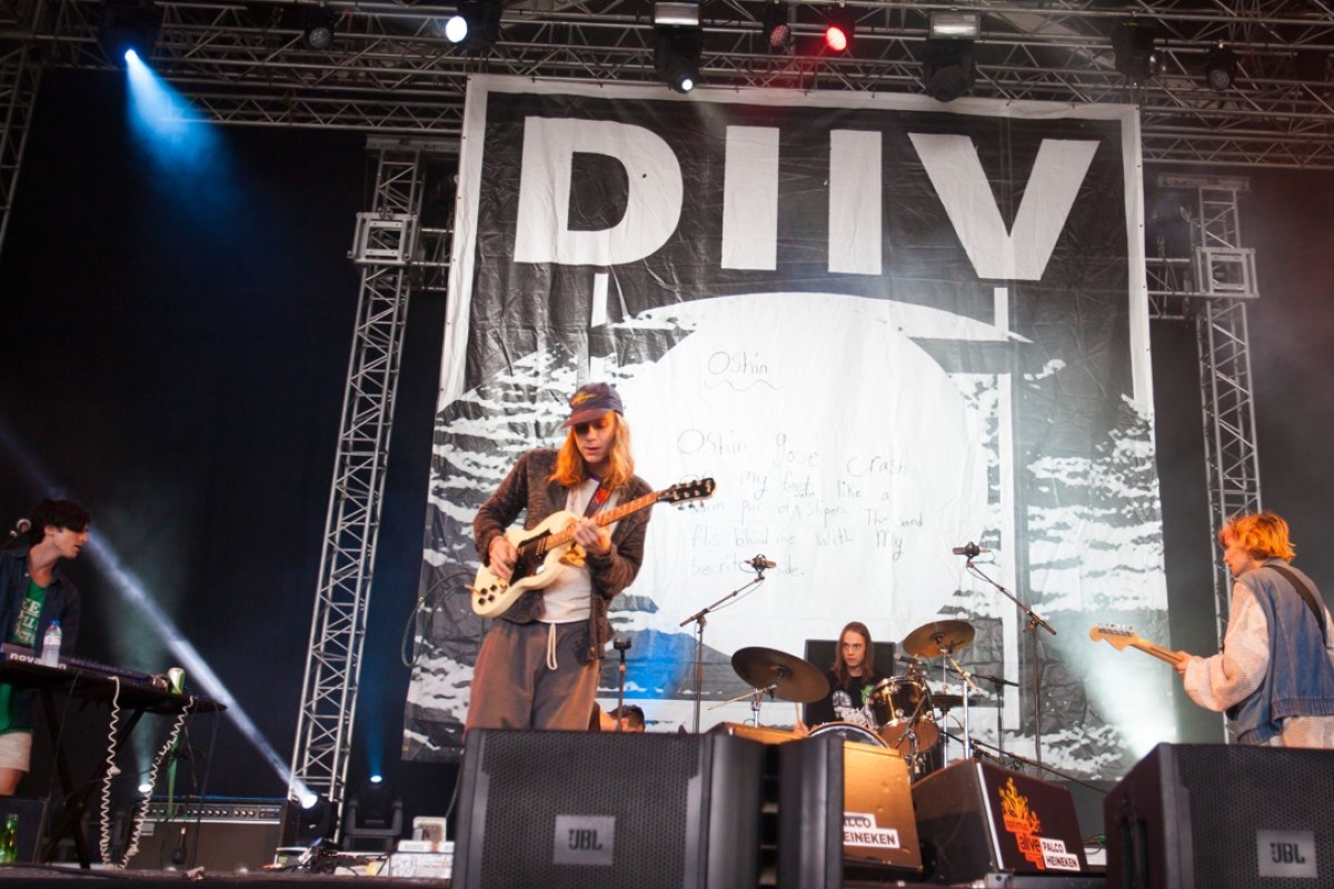 American band Diiv perform in Lisbon, Portugal. Picture : Alamy