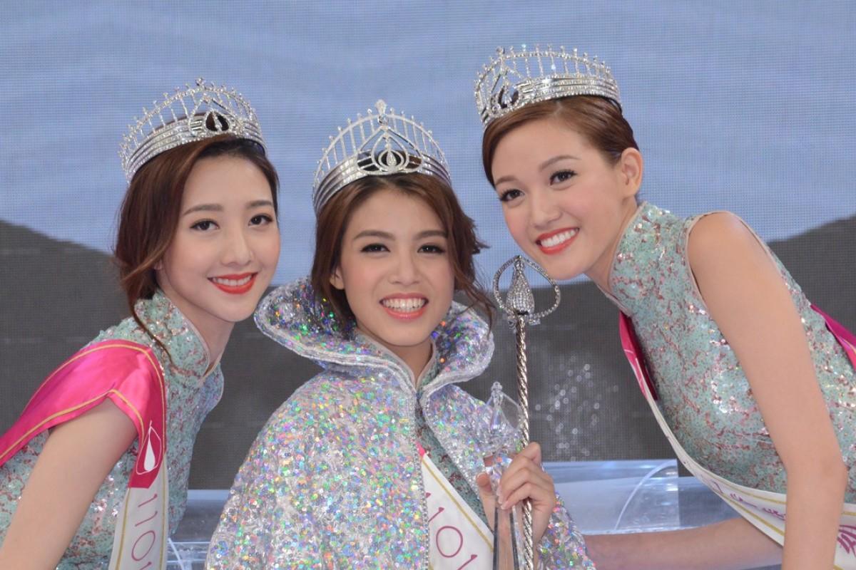 Miss Hong Kong 2017 winners (from left) : Regina Ho, Juliette Louie and Emily Wong