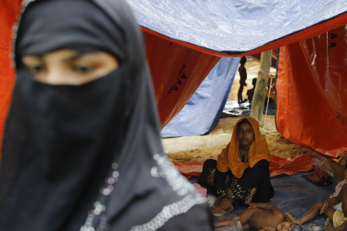 Rohingya refugees from Myanmar's Rakhine state shelter in Bangladesh. Photo: AFP