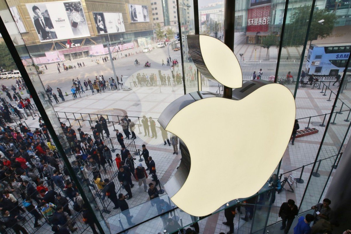 Fans Line Up Outside The New Apple Store In Beijing 2012 Is Due