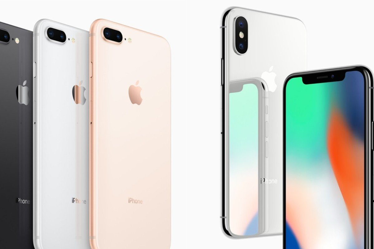 Apple's new flagship smartphones compared: iPhone X (r) vs iPhone 8/8Plus.