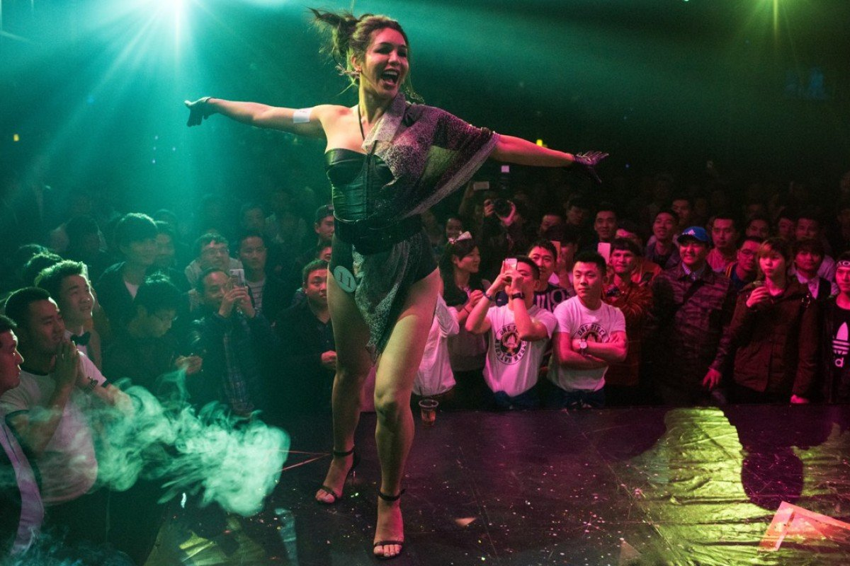 Transgender Yari Ferreira performs during the preliminary round of Big Queen, a cross-dressing contest at the Icon Club, in Shanghai, last year. Picture: AFP
