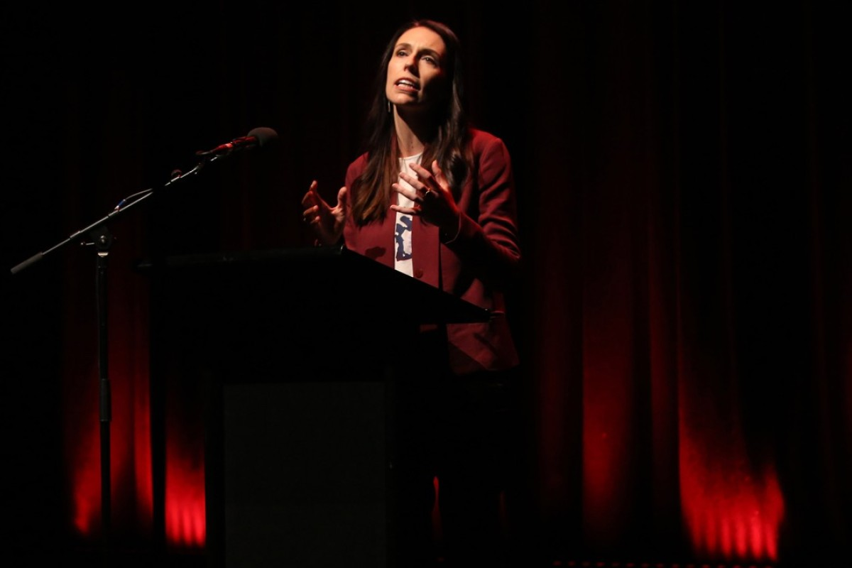 Jacinda Ardern speaks at a Labour Party rally ahead of the country's general election. Photo: AFP