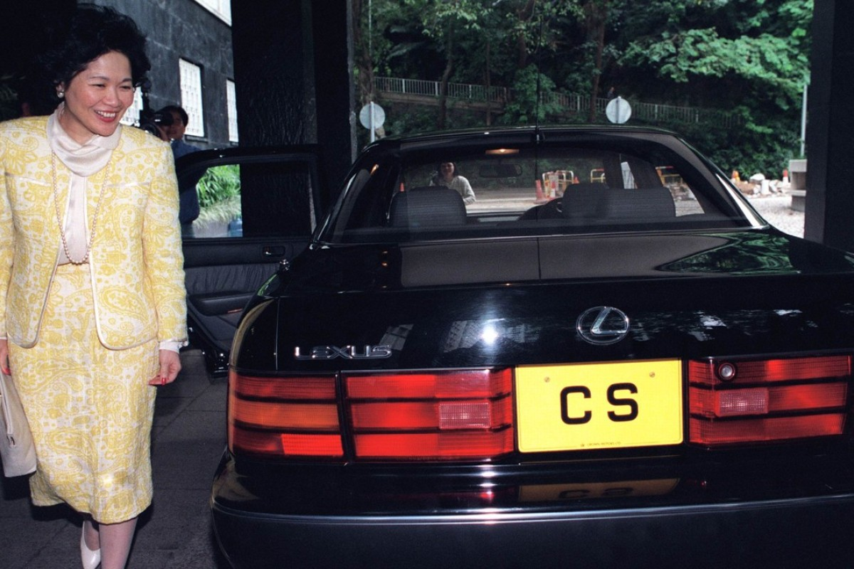 Anson Chan steps from her official Lexus saloon to begin work as chief secretary of the Hong Kong administration on November 29, 1993. Picture: SCMP
