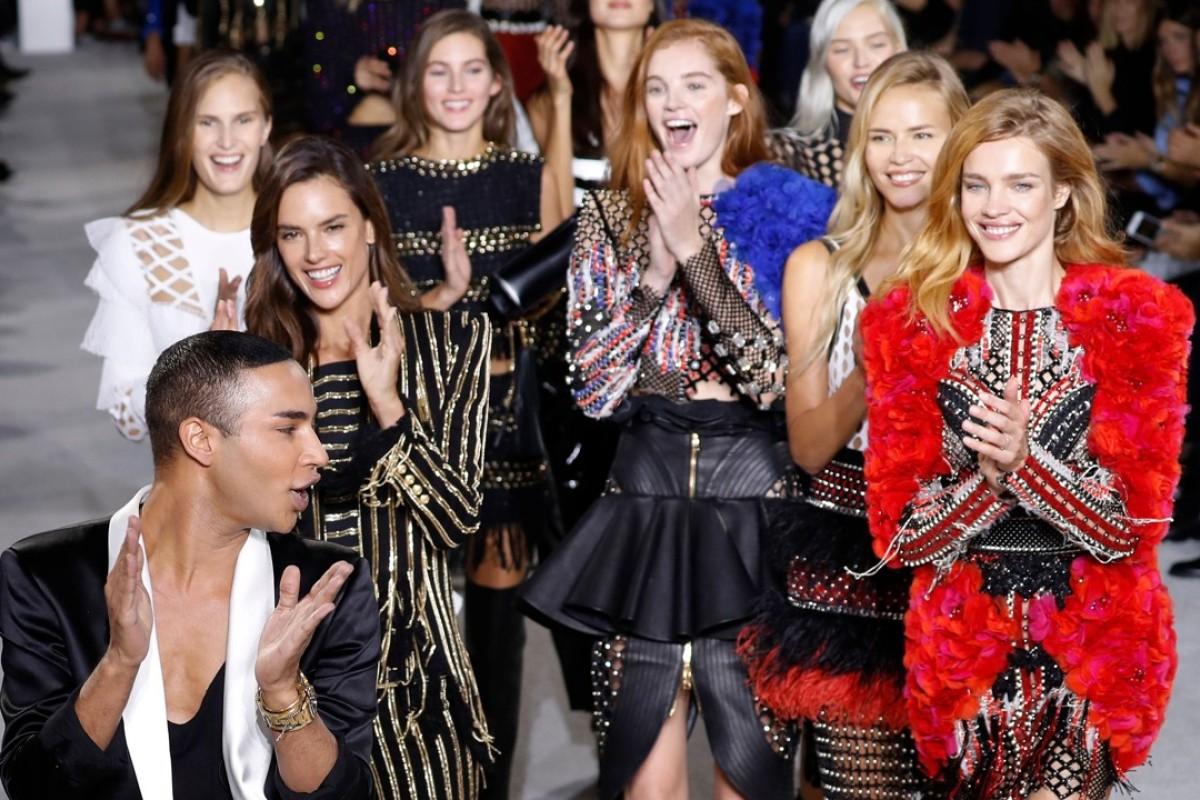 Balmain opts for operatic excess at Paris Fashion Week ...