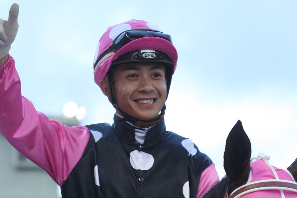 Derek Leung after Beauty Generation won the Group Three Celebration Cup on October 1. Photos: Kenneth Chan.