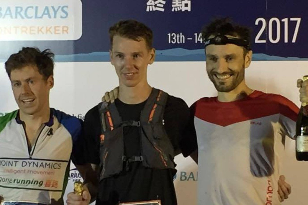 Jeff Campbell (left), Brian McFlynn and Kevin Scallan on the podium. Photo: Handout