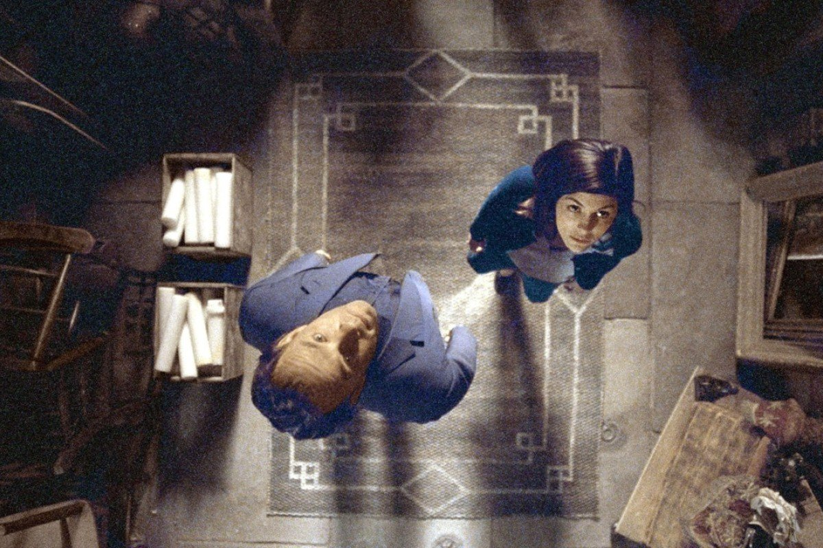 Tom Hanks, as Robert Langdon, with Audrey Tautou, in the 2006 film The Da Vinci Code.