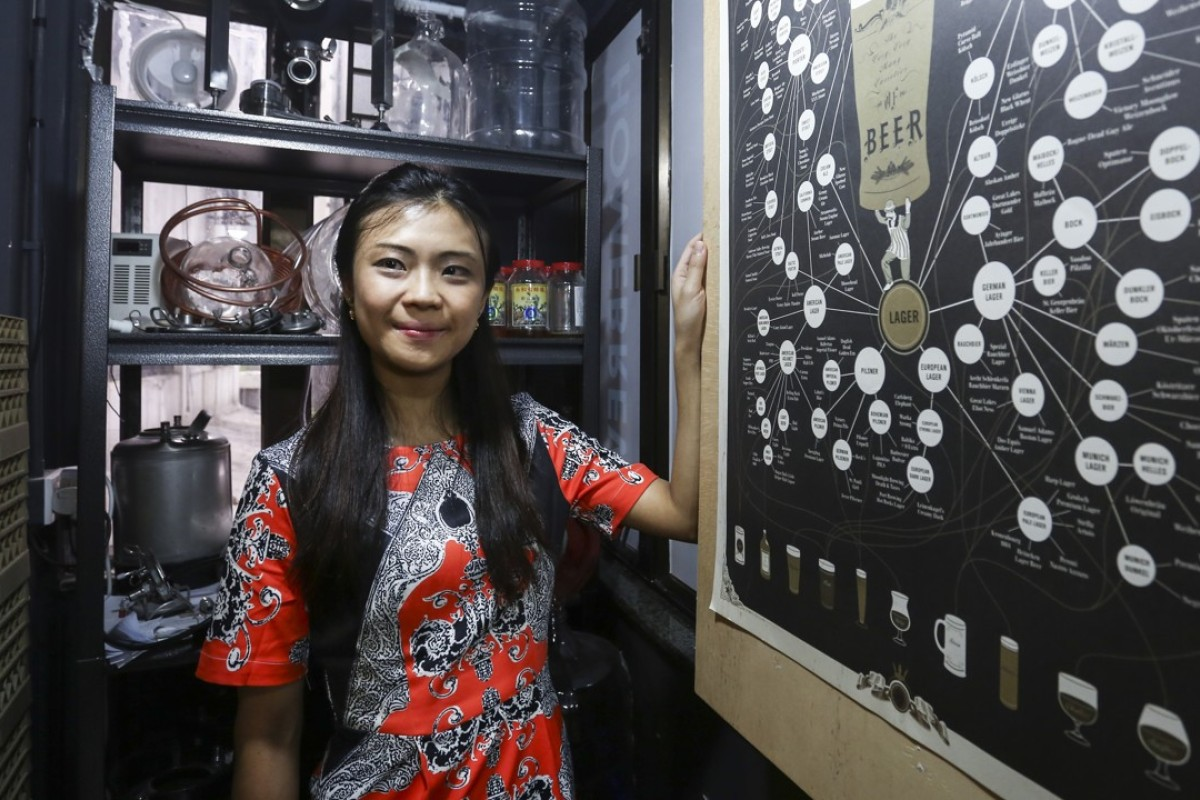 Belle Leung feels honoured to be the region's first beer sommelier. Photo: SCMP / Jonathan Wong