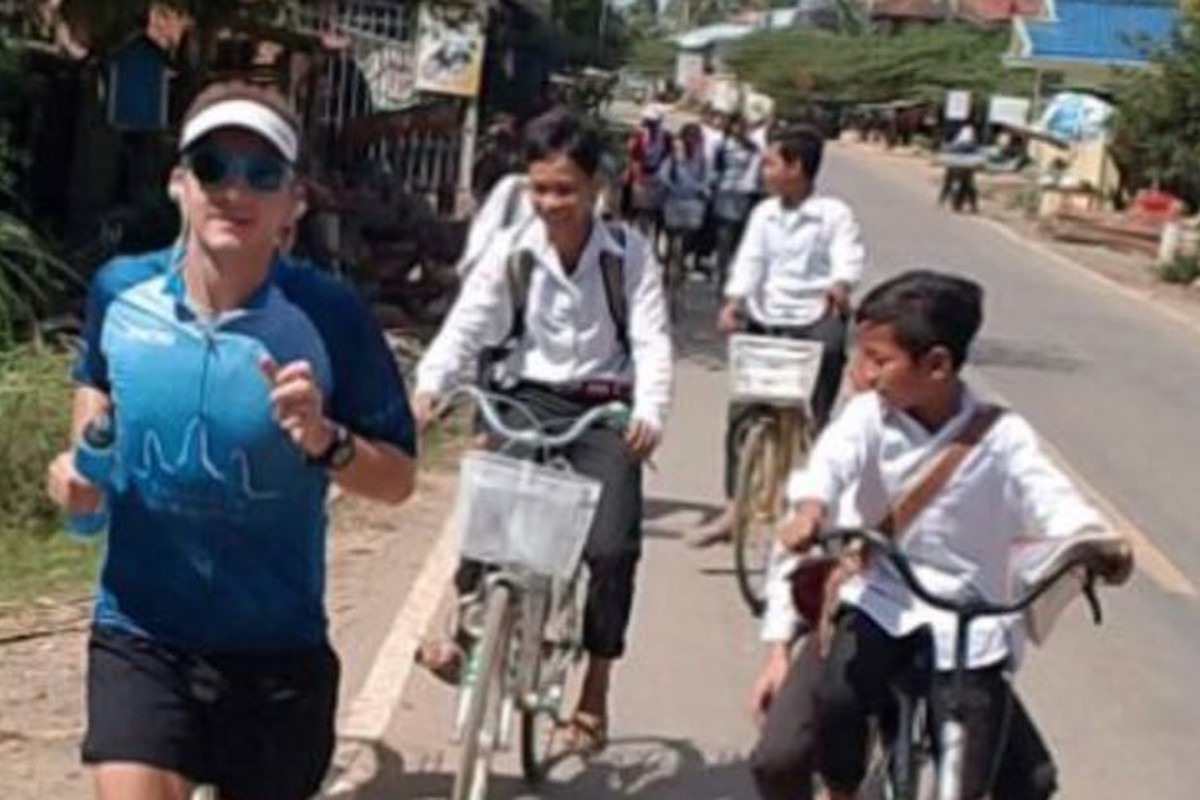 Matthew Pocock (pictured) is running 300km through Cambodia for charity. Photos: Handouts