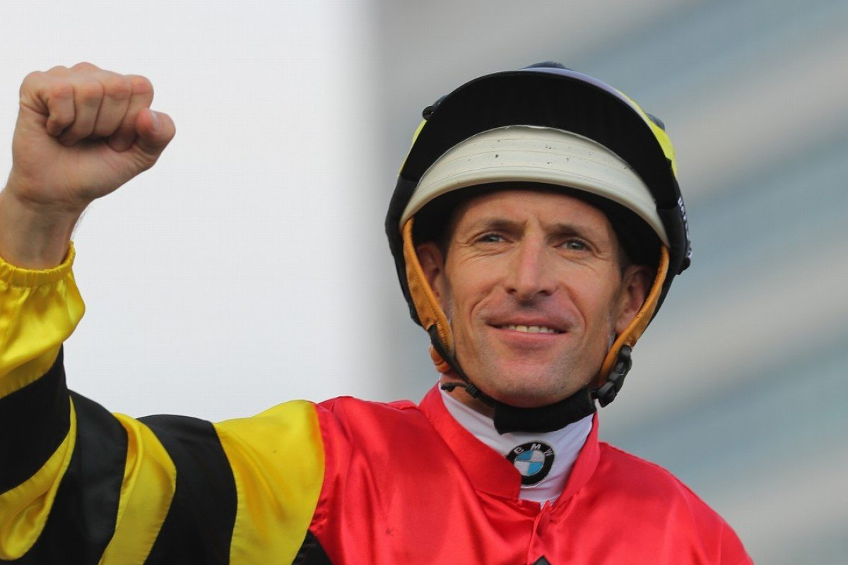 Hugh Bowman celebrates a Group One win at Sha Tin in May. Photo: Kenneth Chan