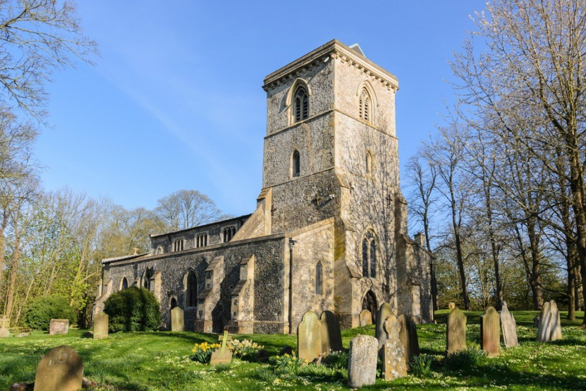 Holy Trinity Church, in Bledlow, Buckinghamshire, southeast England. The village is a frequent filming location for Midsomer Murders. Picture: Alamy