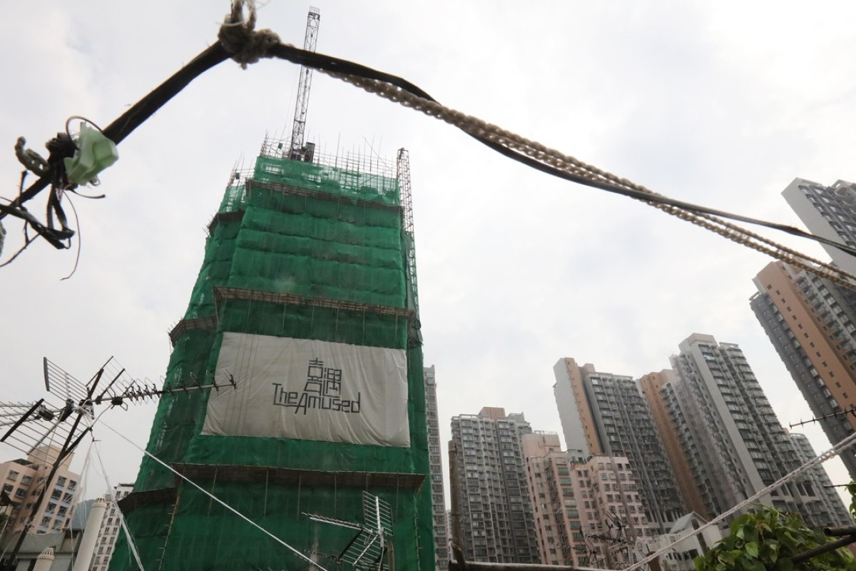 The Amused development under construction in Cheung Sha Wan. Photo: Felix Wong