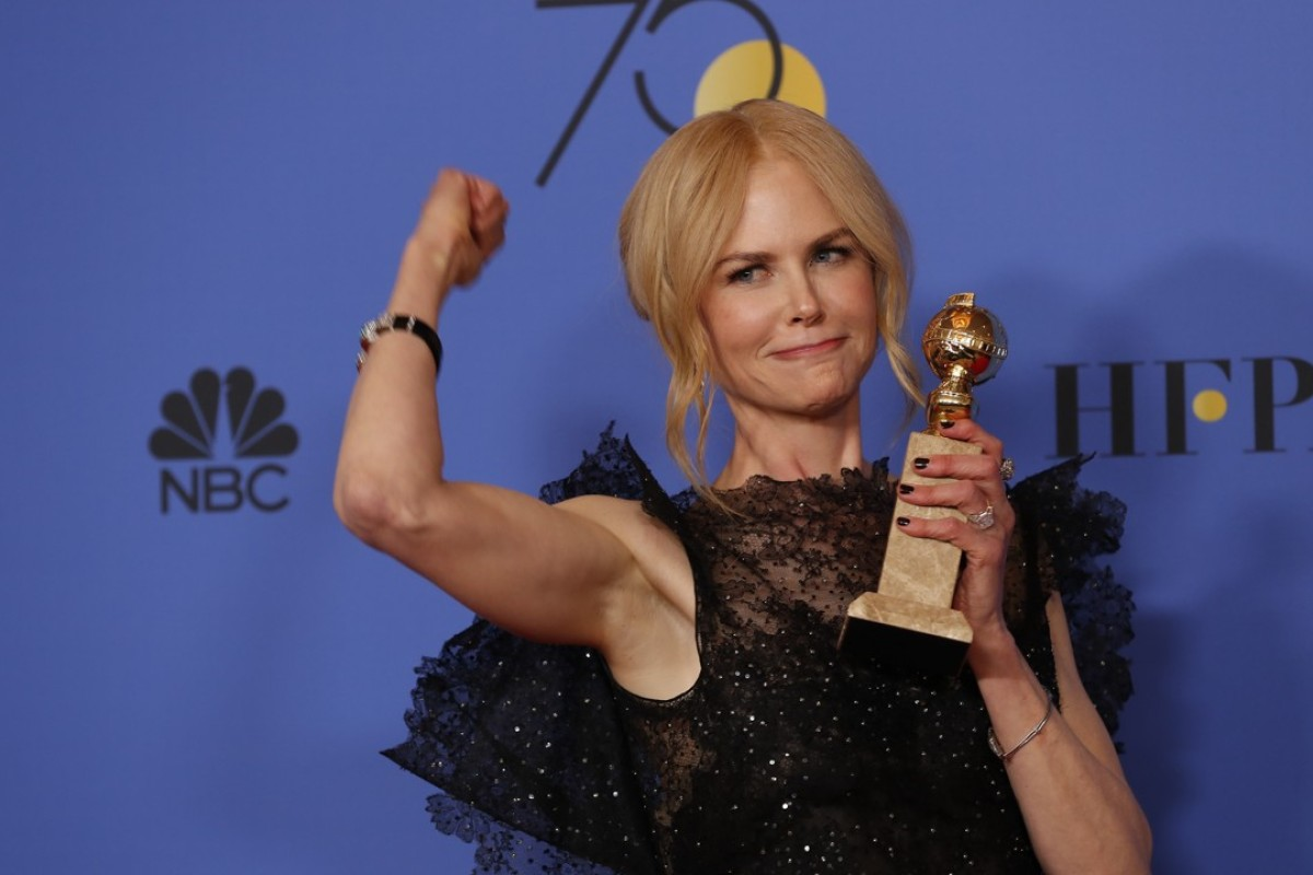 Nicole Kidman backstage at the 75th Annual Golden Globes at the Beverly Hilton Hotel in Beverly Hills, Calif., on Sunday, Jan. 7, 2018. Photo: Allen J. Schaben/Los Angeles Times/TNS
