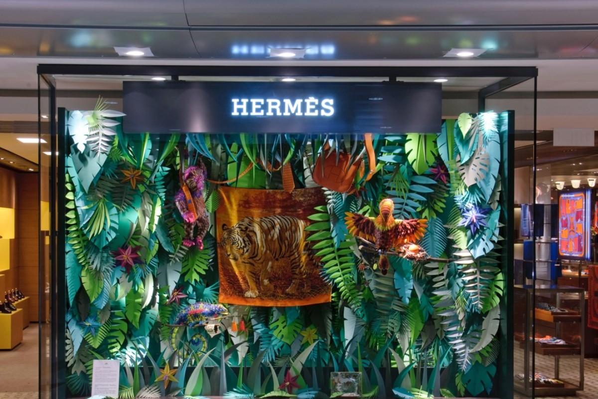 The Eternal Jungle window display by French artist Zim ... & 5 most stunning Hermès window displays | Style Magazine | South ...