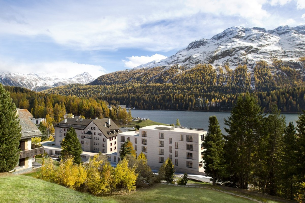 St Moritz offers an idyllic setting for those wishing to get away from it all.