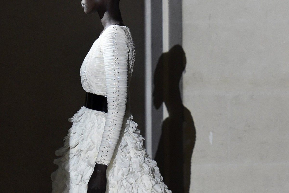 A Givenchy creation is shown at Paris Fashion Week. Photo: AFP