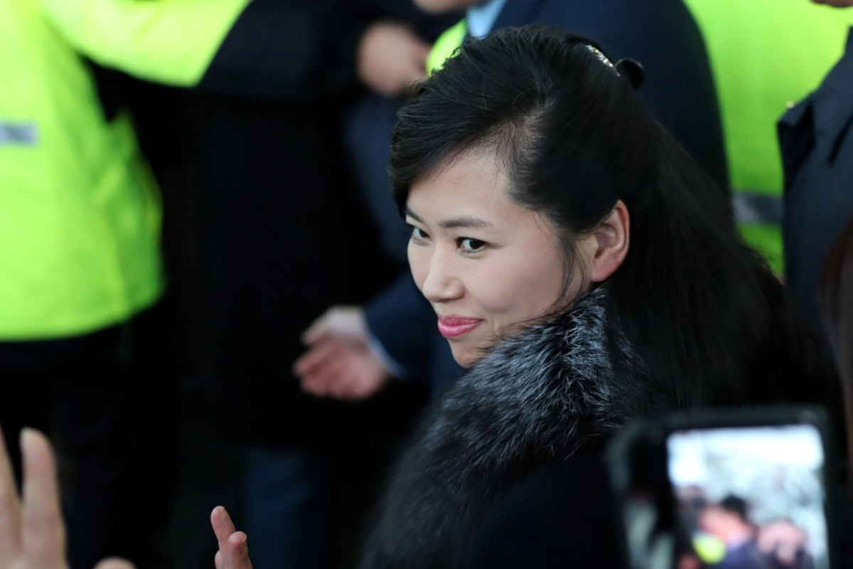 North Korean singer Hyon Song-wol arrives at the Gangneung Railway Station in Gangneung, South Korea. Hyon is the photogenic leader of Kim Jong-un's hand-picked Moranbong Band. Photo: AP