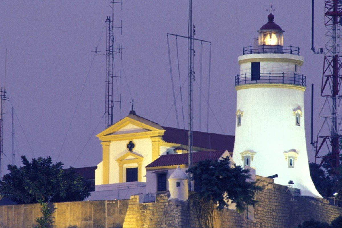 The Guia Lighthouse and Fortress in Macau