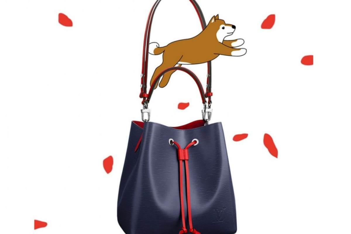 French luxury brand Louis Vuitton has created a cartoon dog to help market its Lunar New Year offerings. Photo: Louis Vuitton
